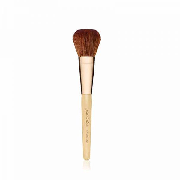 Brush for applying loose powders